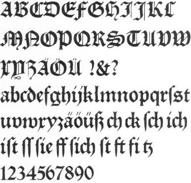 Deutsche schrift alphabet