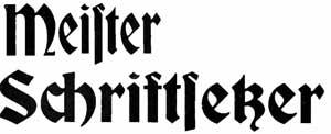 Schriftgiesser for Maschinenbau offenbach
